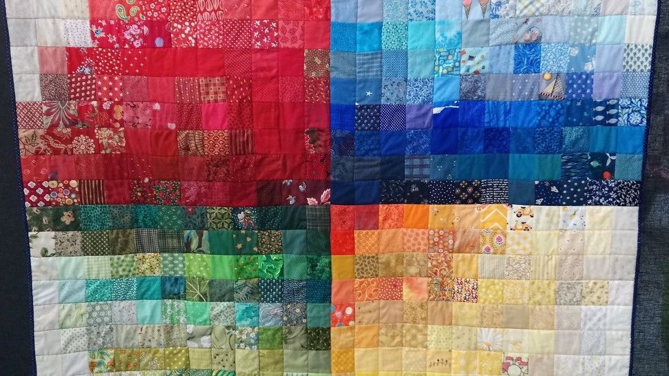 Cot quilt/throw/hanging PDF quilt pattern COLOUR MOSAIC