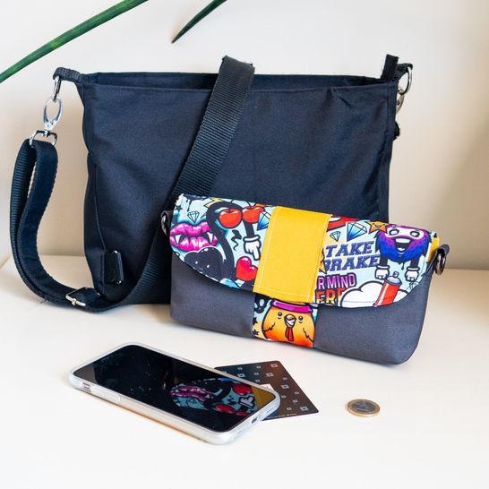 Pochette portefeuille, patron PDF femme - Safran