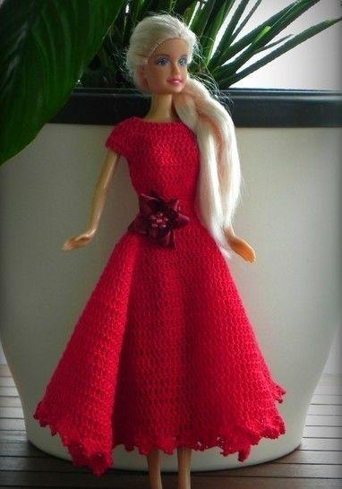 12 inch doll romatic dress crochet pattern