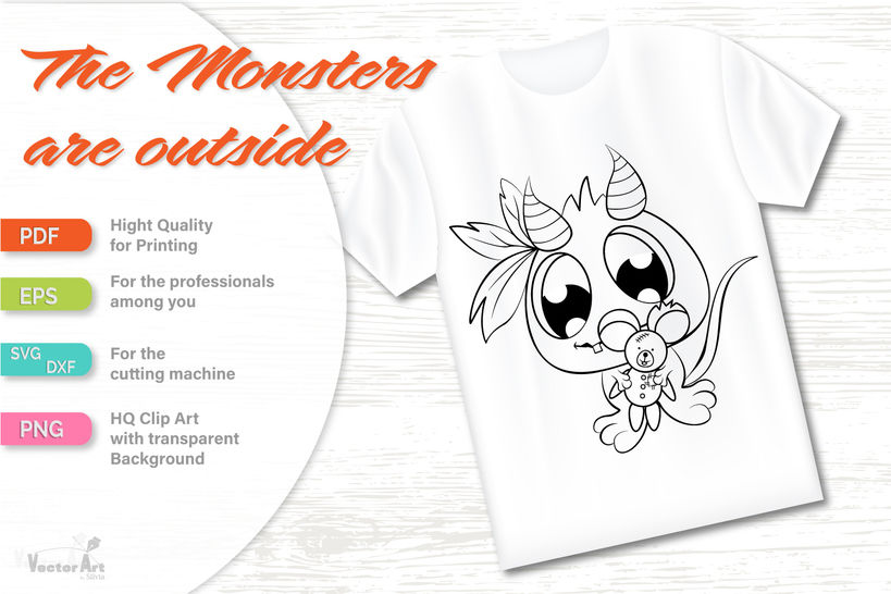 Three Cute Monsters - Cut file for Crafter