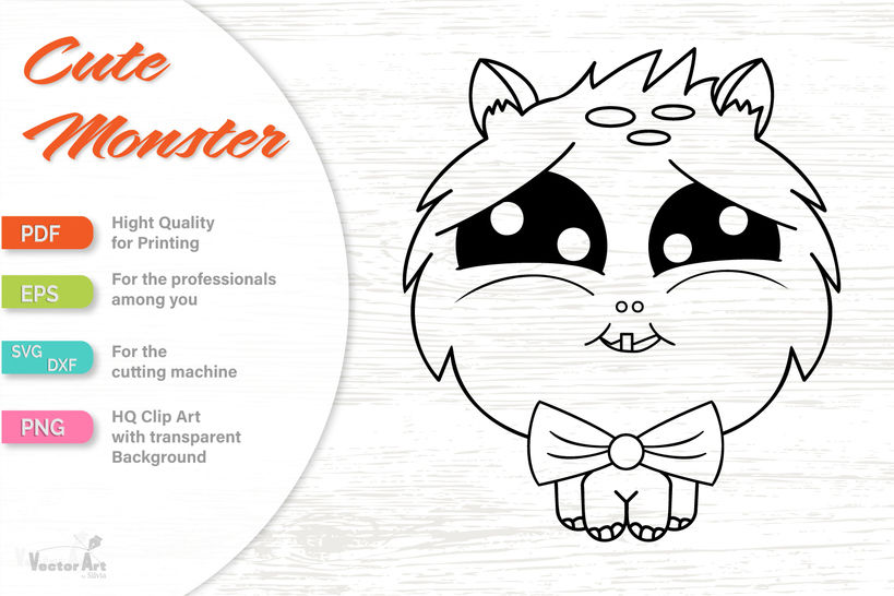 Four Cute Monsters - Cut file for Crafter