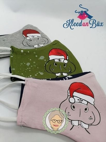 Cutting file funny christmas hippo for christmassweater