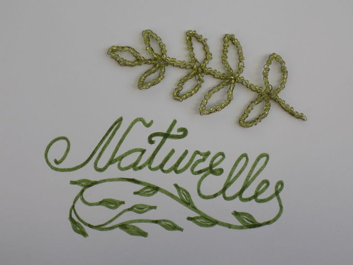 Crochet Pattern: Wire Crocheted Leaf Branch with Beads