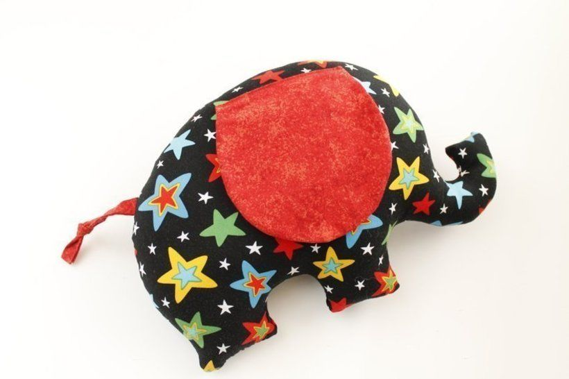 Elephant soft toy sewing pattern - sewing tutorials
