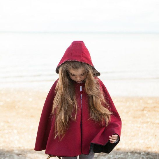 Traveller Cape - Unisex PDF Sewing Pattern - Infant to Teen
