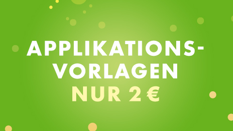 Applikationsvorlagen 2 €