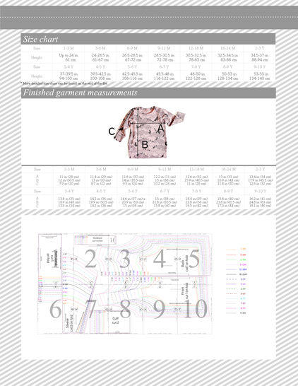 Tunic sweatshirt sewing pattern PDF