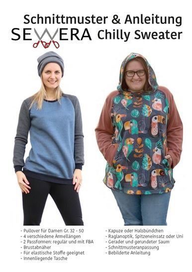 Chilly Sweater Schnittmuster und Anleitung by Sewera