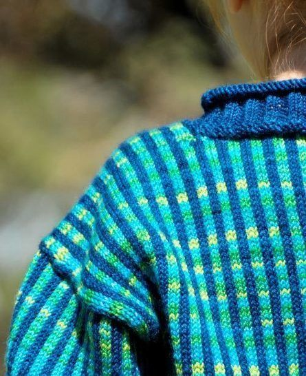 Dizzy baby/child's pullover - hand knitting pattern