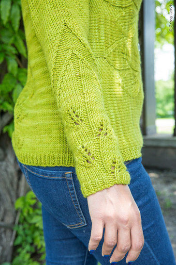 Philodendron cardigan - hand knitting pattern