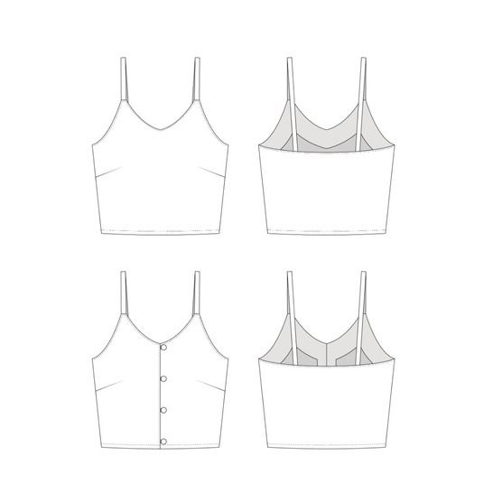 Women's Blossom Crop Top PDF Sewing Pattern