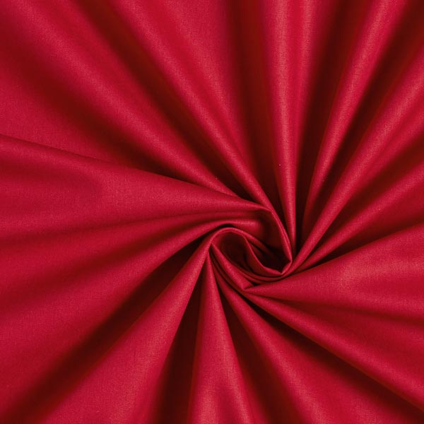 TIssu coton popeline uni rouge