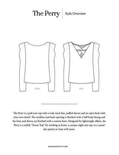 The Perry Top PDF Pattern