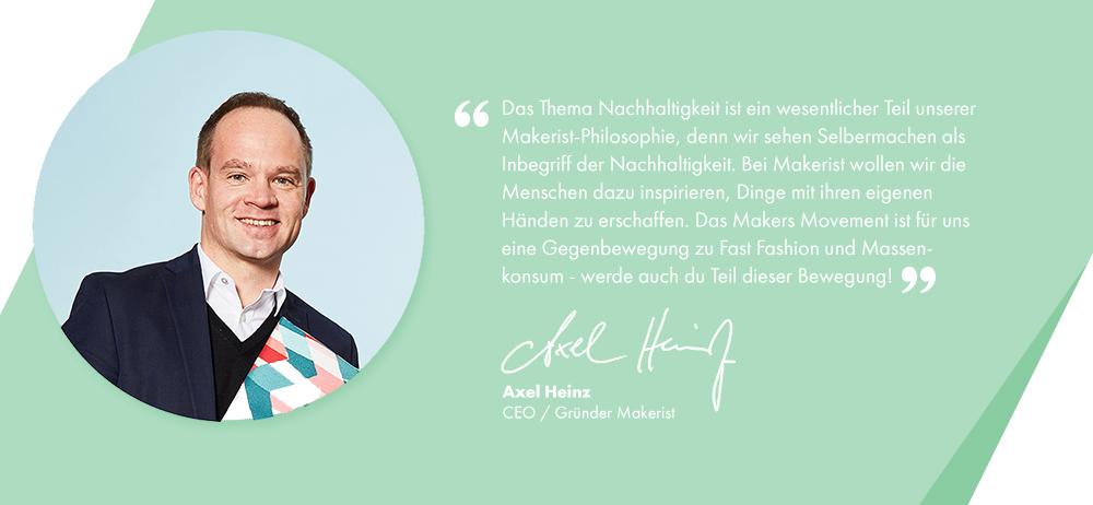 Axel Heinz zu Nachhaltigkeit bei Makerist
