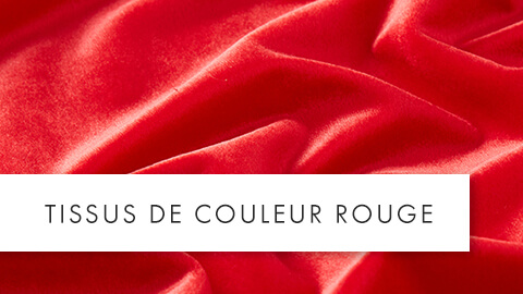 tissus de couleur rouge