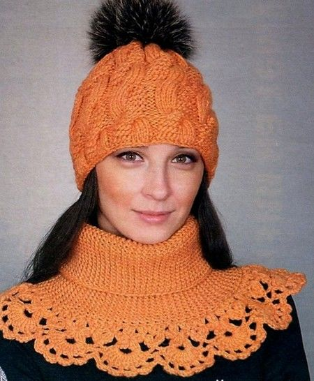 PDF PATTERN IN ENGLISH (US) - VICTORIAN  NECK WARMER !