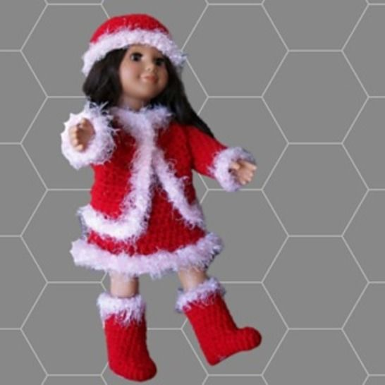 """Crochet Doll Clothes Pattern for 18"""" Doll"""