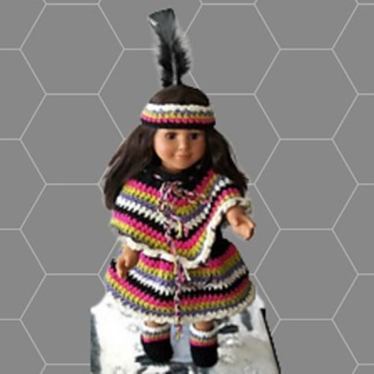 """Crochet 18"""" Doll Clothes Pattern, Indian Doll Clothes Pattern"""