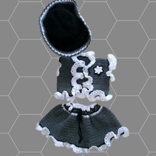 Crochet Ruffled Cowgirl