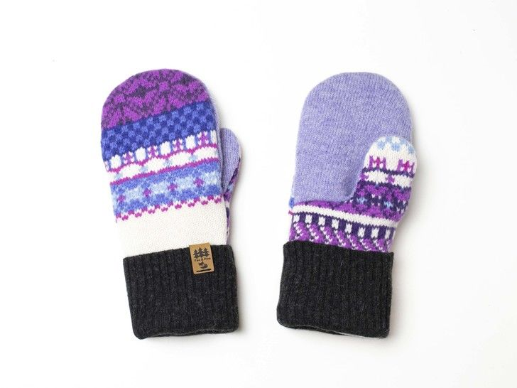 Women Sweater Mittens Sewing Pattern Upcycled Wool Jumpers