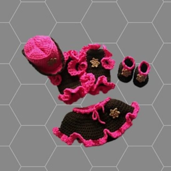 Crochet Cowgirl Set