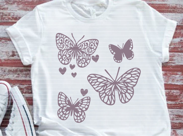 Cutting file 4 butterflys for Ironing-picture SVG DXF