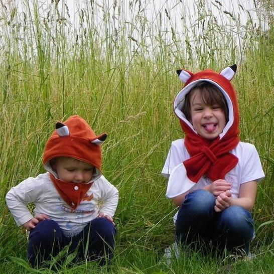 Animal Hooded Scarf - PDF PATTERN -  Infant to Adult