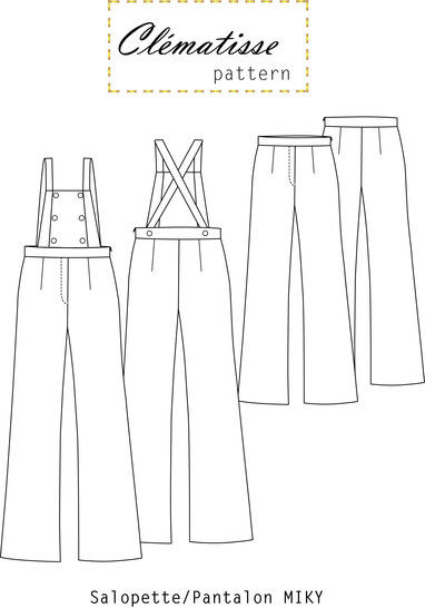 Miky pants/jumpsuit Pattern