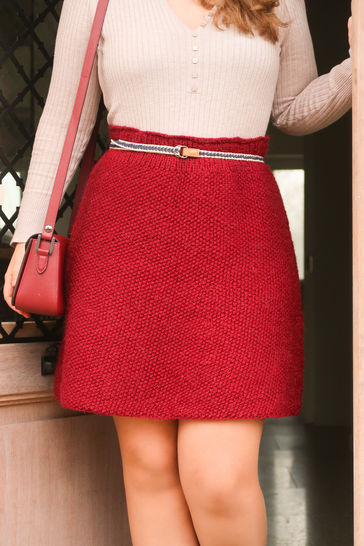 Skirt Knitting Pattern - XS to 5XL Knit Skirt