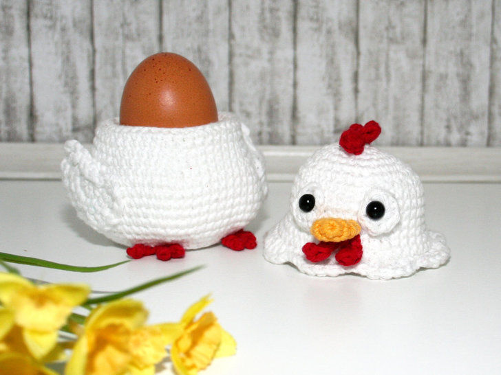 Chicken - Egg Cozy, Decoration - Crochet Pattern