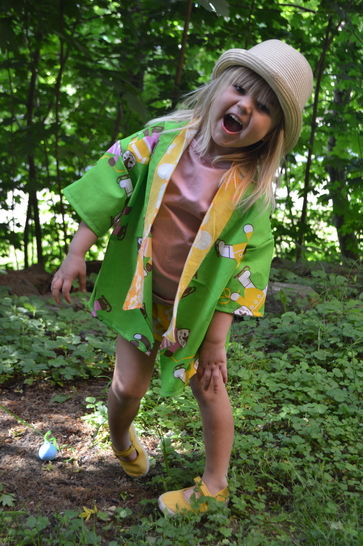 Beach kimono cardigan robe sewing pattern