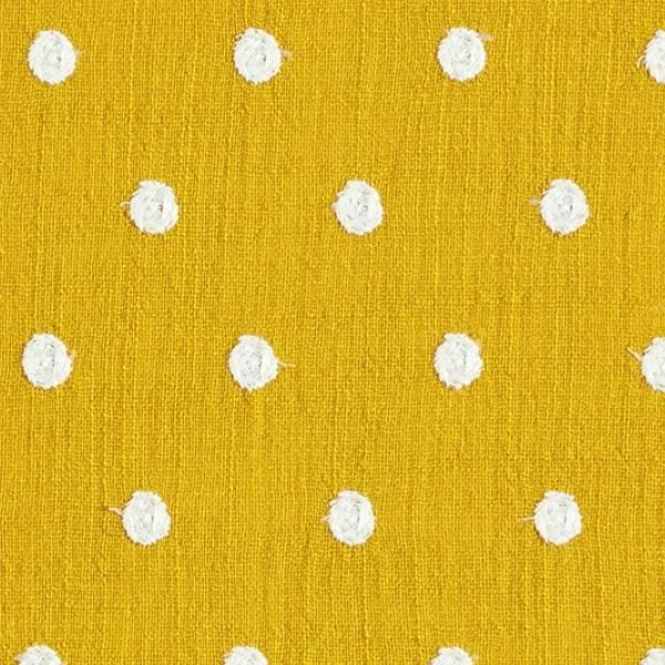 Tissu fil coton sub points brodés