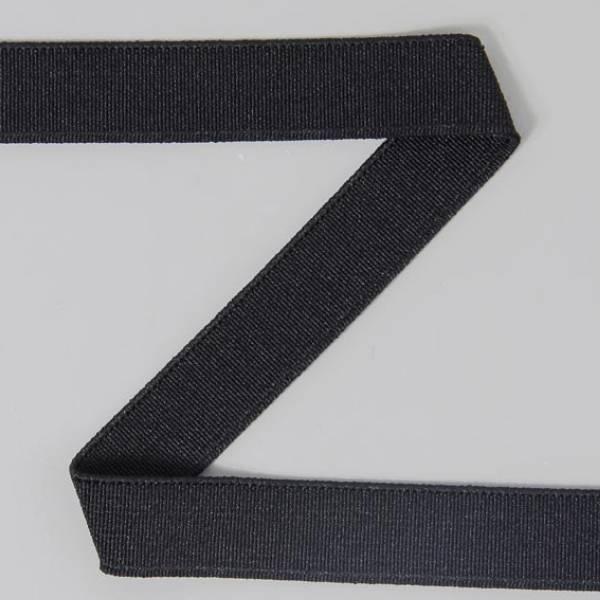 Bande élastique lisse noire