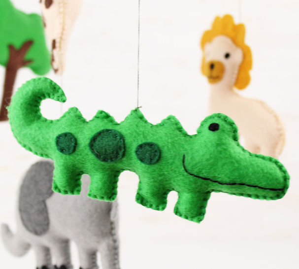 Jungle Animals Nursery Mobile Hand Sewing Pattern