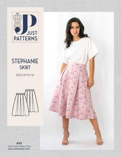 Just Patterns Stephanie Skirt Sewing Pattern