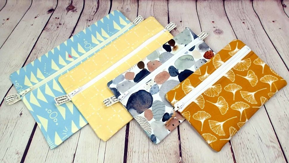 Malvern Zipper Pouch in 4 sizes with video tutorial