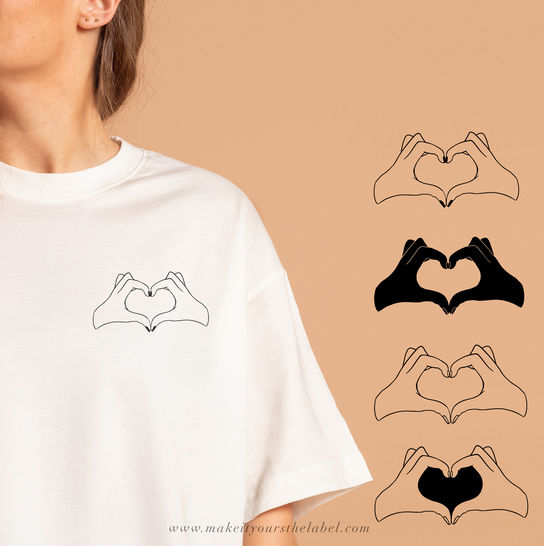 Hands & Heart Cutting File DXF,SVG,PNG