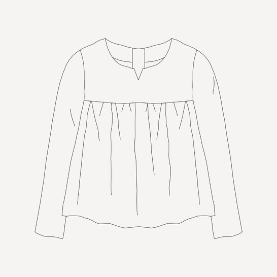 Lombarde blouse sewing pattern - with or without sleeve
