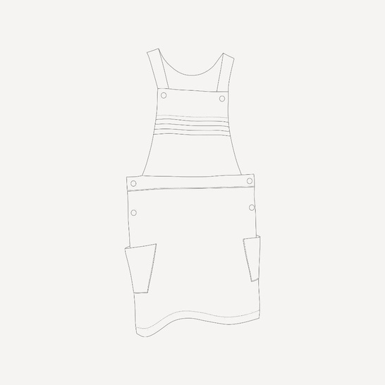 Eissaure pinafore dress sewing pattern - Size 2 to 14