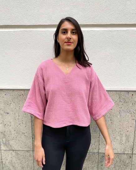 Phoebe Top PDF Sewing Pattern   Floaty Cropped Top