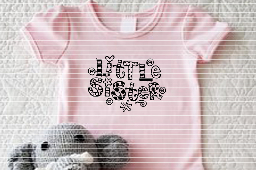 Cutting file Little Sister SVG DXF
