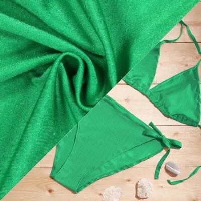 Tissu uni pour maillot de bain vert