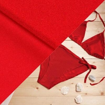 Tissu pour maillot de bain rouge