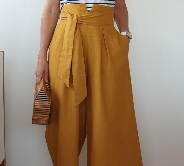 Jupe culotte patron couture femme intermédiaire