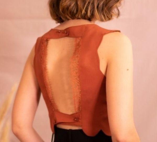 crop top patron couture femme