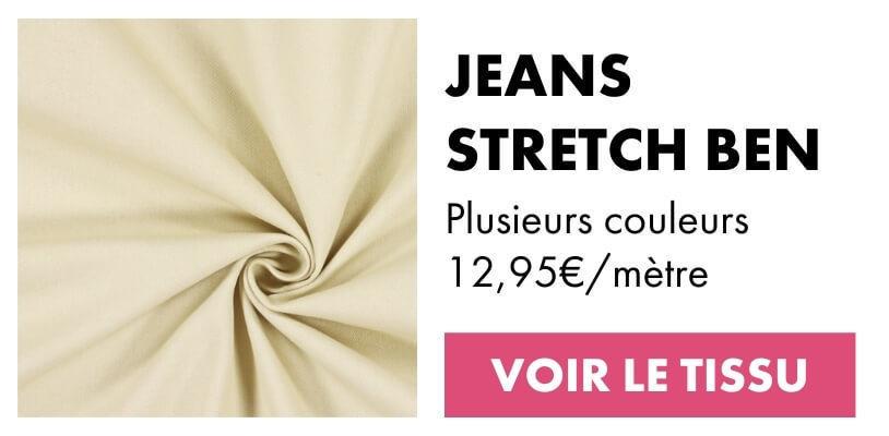 Tissu stretch jeans