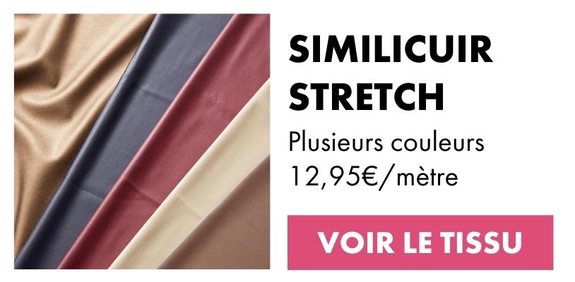 Tissu similicuir stretch lisse