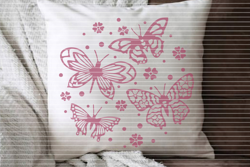 Cutting file 4 butterflies for Ironing-picture SVG DXF