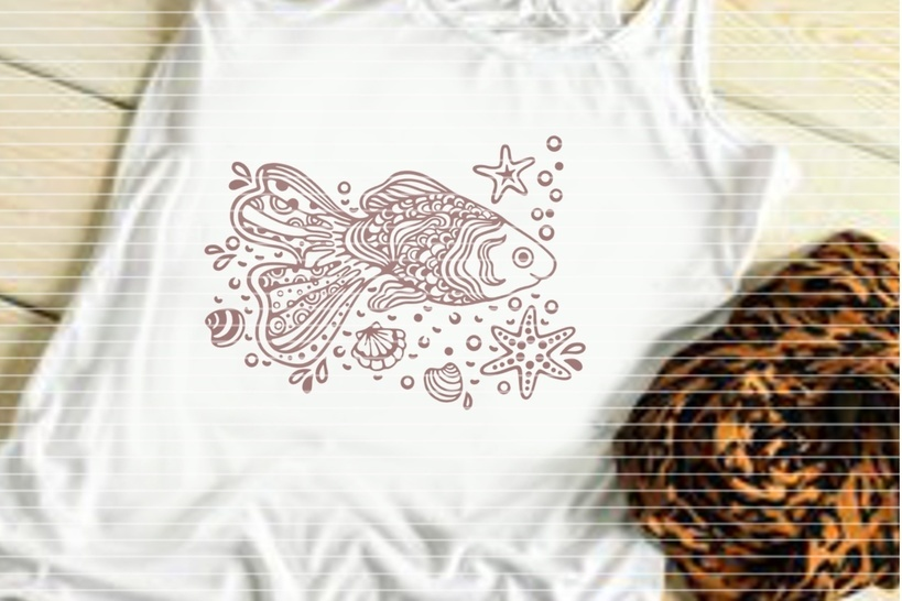 Cutting file Paradies-Fish for Ironing-picture SVG DXF