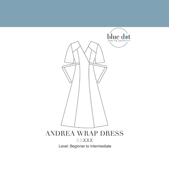 Andrea Wrap Dress and Top PDF Sewing Pattern